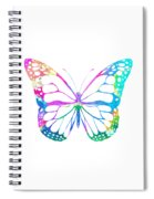 Watercolor Butterfly Spiral Notebook