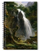 Waterfall At Mont-dore Spiral Notebook