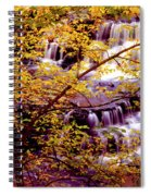 Waterfalls And Fall Colors Spiral Notebook