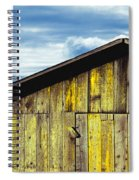 Weathered Wooden Barn, Gaviota, Santa Spiral Notebook
