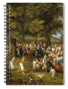 Wedding Banquet Presided Over By The Archduke And Infanta Spiral Notebook