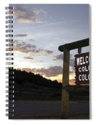 Welcome To Colorful Colorado Spiral Notebook