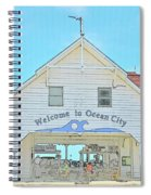 Welcome To Ocean City Spiral Notebook