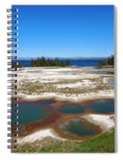West Thumb Geyser Basin In Yellowstone National Park Spiral Notebook