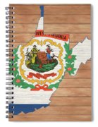 West Virginia Rustic Map On Wood Spiral Notebook