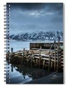 Wharf In Norris Point, Newfoundland Spiral Notebook
