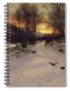 When The West With Evening Glows Spiral Notebook