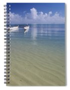 White Double Hull Canoe Spiral Notebook