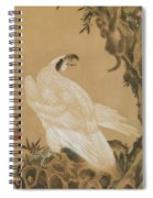 White Eagle Eyeing A Mountain Lion Spiral Notebook