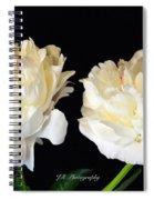 Peonies In Cream Spiral Notebook
