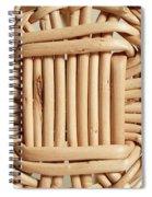 Wicker Basket Spiral Notebook