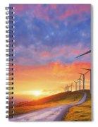 wind turbines in Oiz eolic park Spiral Notebook