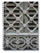 Window Grill In Toulouse Spiral Notebook