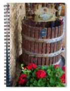 Wine And Geraniums Spiral Notebook