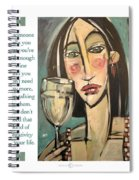 Wine Negativity Poster Spiral Notebook