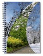 Winter And Summer Spiral Notebook