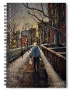 Winter In The City Spiral Notebook