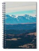 Winter Sangre De Cristo Mountains Spiral Notebook