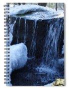 Winter Waterfall Spiral Notebook