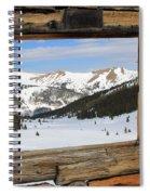 Winter Window Spiral Notebook