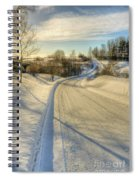 Wintry Road Spiral Notebook