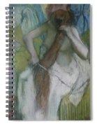 Woman Combing Her Hair Spiral Notebook