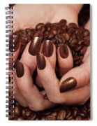 Woman Holding Coffee Beans In Her Hands Spiral Notebook