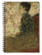 Woman Sitting By The Fireside Spiral Notebook