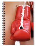 Woman With Boxing Gloves Spiral Notebook