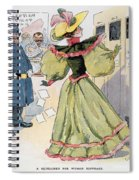 Womens Rights Cartoon Spiral Notebook