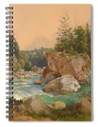 Wooded River Landscape In The Alps Spiral Notebook