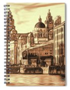 World Famous Three Graces Spiral Notebook