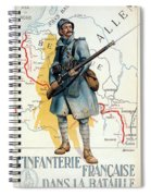 World War I: French Poster Spiral Notebook
