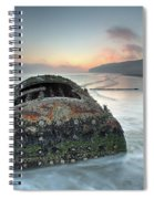 Wreck Of Laura - Filey Bay - North Yorkshire Spiral Notebook