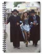 Wyatt Earp  Doc Holiday Escort  Woman  With O.k. Corral In  Background 2004 Spiral Notebook