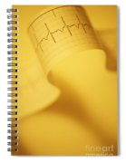 Yellow Ekg Spiral Notebook