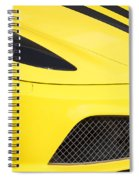 Yellow Stradale Spiral Notebook
