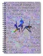 Yoga Asanas / Poses Sanskrit Word Art  Spiral Notebook