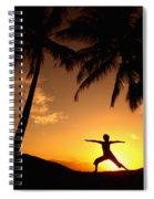 Yoga At Sunset Spiral Notebook
