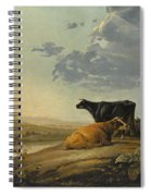 Young Herdsmen With Cows Spiral Notebook