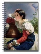 Young Italian At The Well Franz Xavier Winterhalter Spiral Notebook