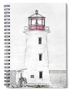 You're My Beacon Peggy's Cove Lighthouse Spiral Notebook