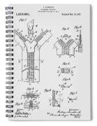 Zipper Patent Art  Spiral Notebook