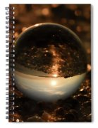 10-17-16--8585 The Moon, Don't Drop The Crystal Ball, Crystal Ball Photography Spiral Notebook