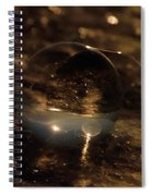 10-17-16--8634 The Moon, Don't Drop The Crystal Ball, Crystal Ball Photography Spiral Notebook