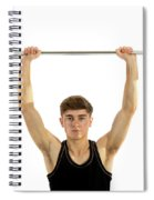 18 Year Old Teenage Boy Exercising With Weights Spiral Notebook