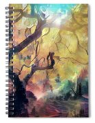 10 Abstract Japanese Maple Tree Spiral Notebook