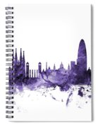 Barcelona Spain Skyline Spiral Notebook