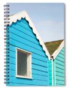 Beach Huts Spiral Notebook