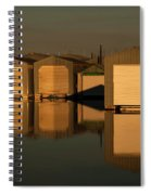 Boathouse Reflections  Spiral Notebook